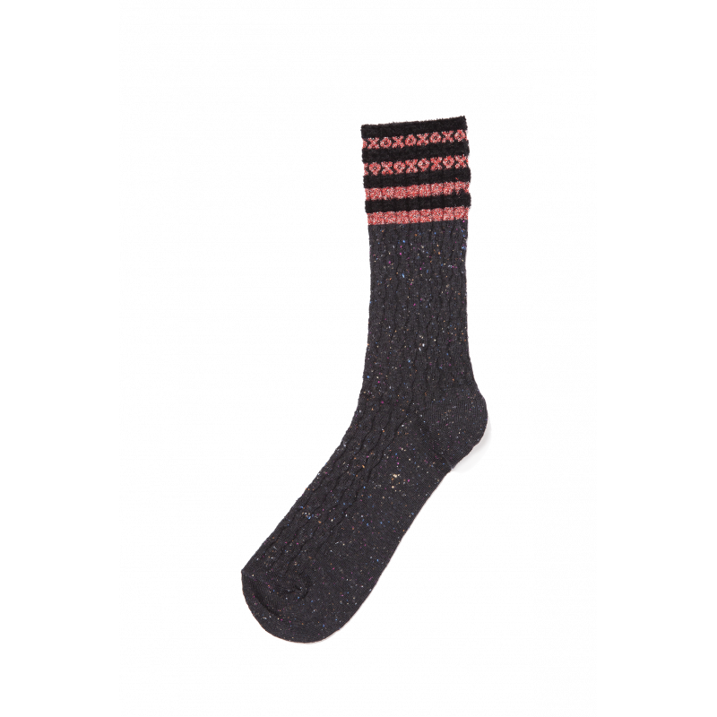 Oro Lurex, Viscose and Cotton Short Socks