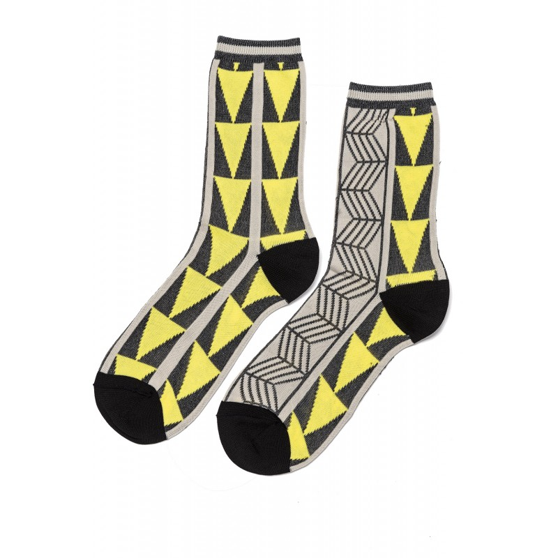 Rea Rhombs Viscose Short Socks