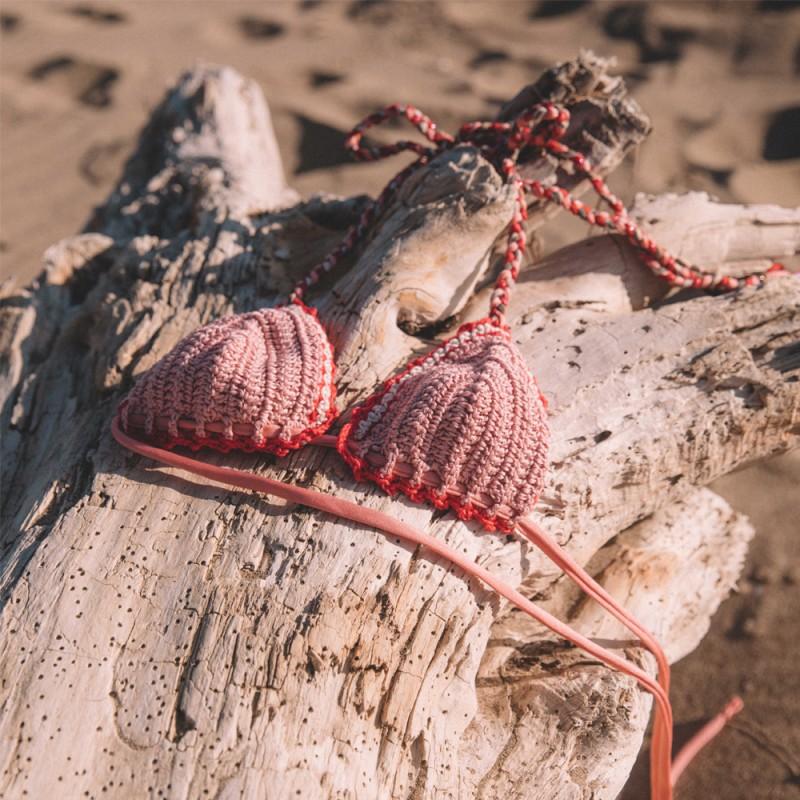 Bahamas Pink Crochet Bralette