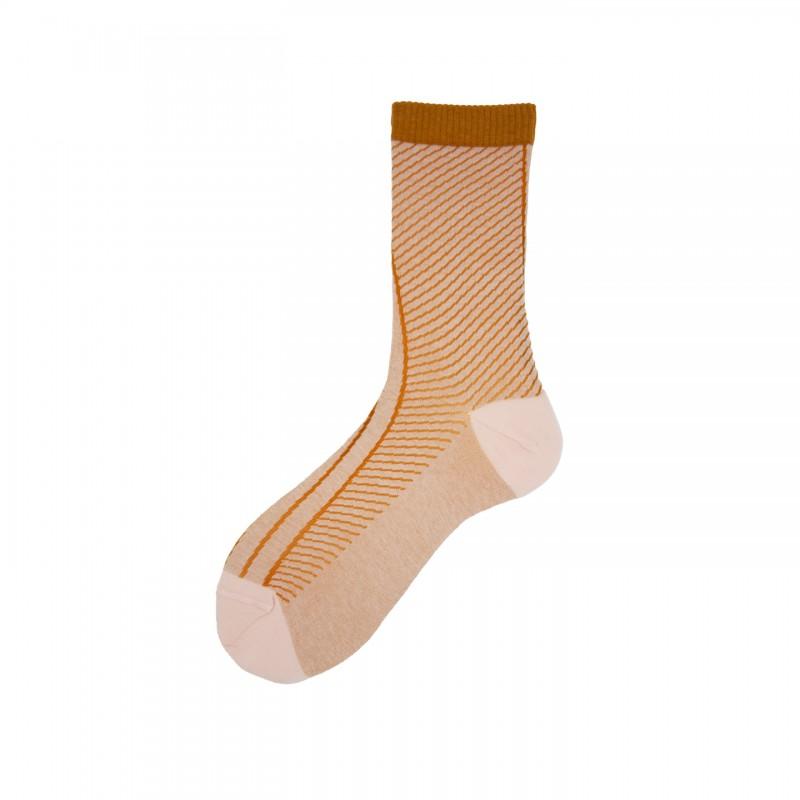 Short Socks with Fantasy in Cotton Cross