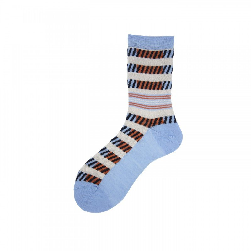 Short Socks with Tricot Pattern in Mohair Wool Loop