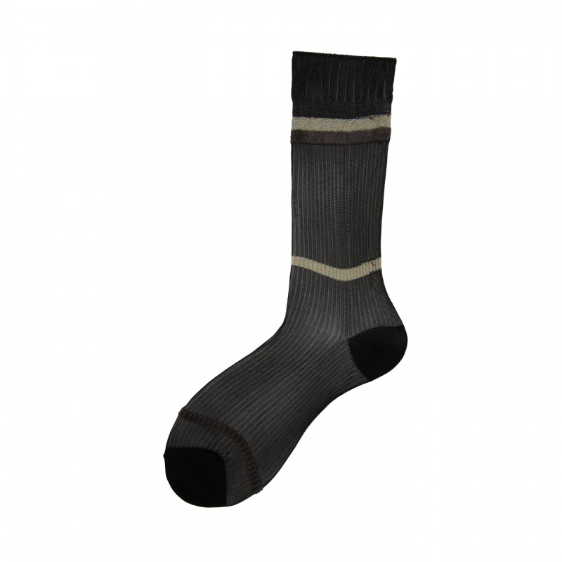 Short Socks with Rib Pattern in Viscose Isaura