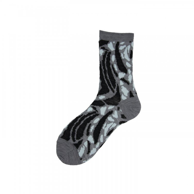 Short Socks with Spotted Pattern Ficus