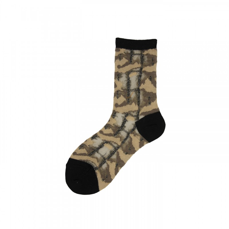 Short Socks with Camouflage Pattern In Polyester Charvet