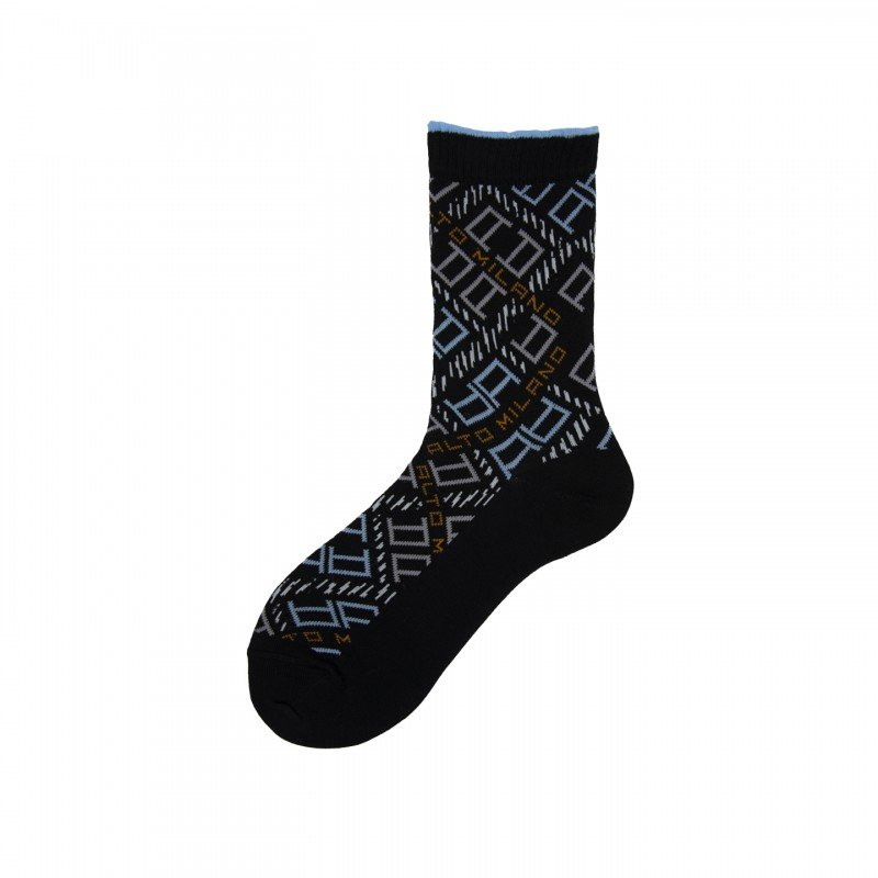 Short Socks with Logo Over All in Cotton Lexi