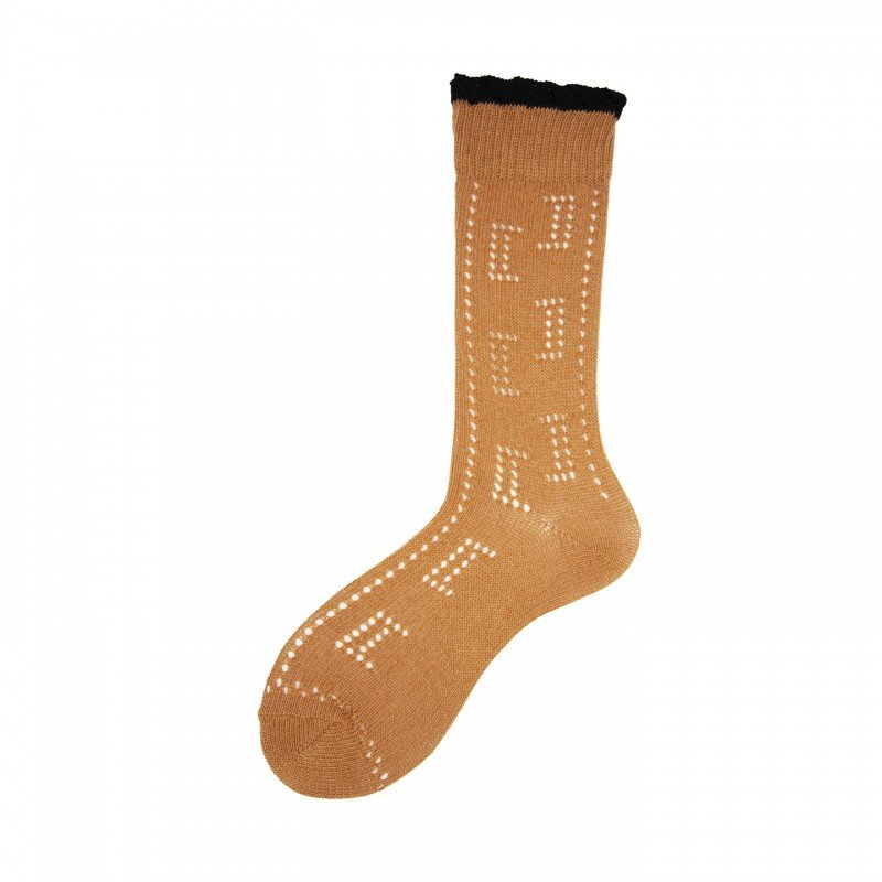 """Short Socks with Perforated """"a"""" in Cotton Dafne"""