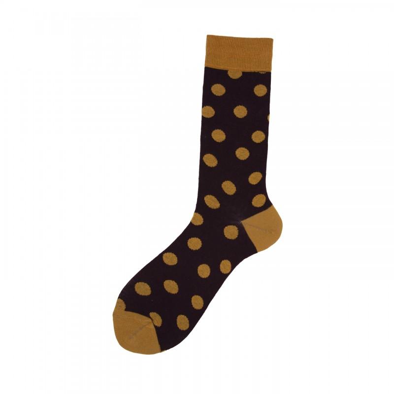 Short Socks with Polka Dot in Cotton Tondo