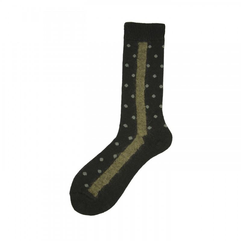 Short Socks with Polka Dot in Virgin Wool Trenker