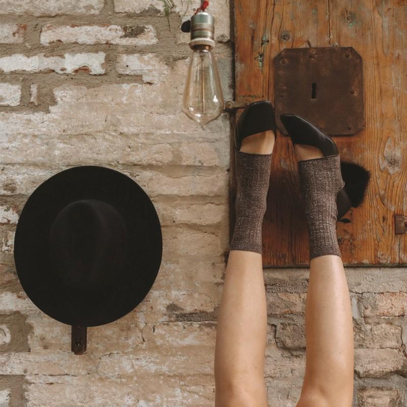 Kurze Baumwollsocke ohne Zehen-Fersen-Absatz