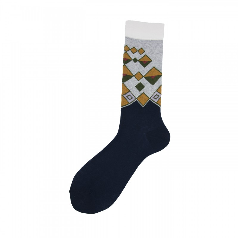 Short Socks with Ethnic Motif in Cotton Mucho